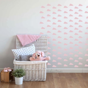 vinilos-decorativos-infantiles-nubes-rosa-bebe
